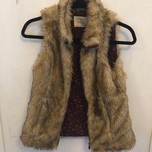 Zara Fake fur vest